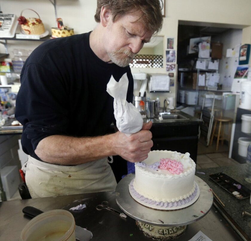 """Baker Jack C. Phillips refused to create a wedding cake for a gay couple, saying he did not want to convey a """"celebratory"""" message he doesn't believe in. He said he was happy to provide the couple with other baked goods, though."""