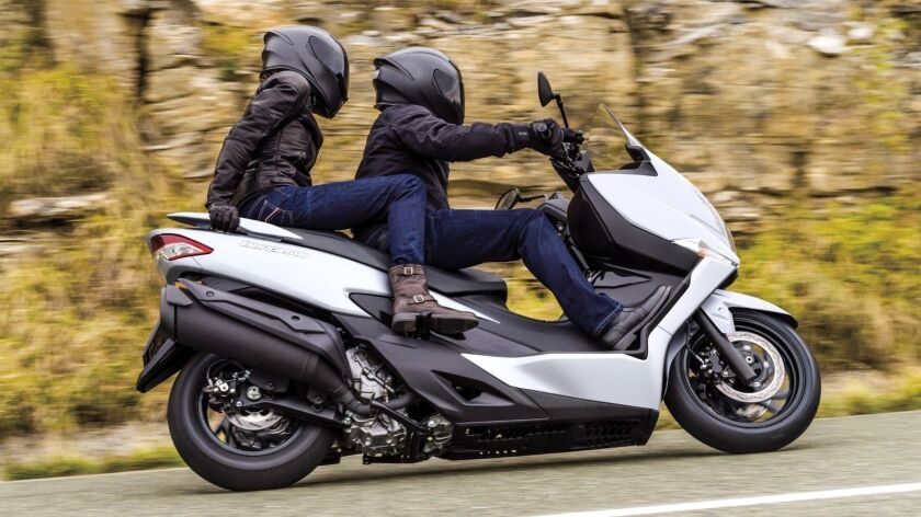 The Burgman 400 is So-Cal freeway capable with no nervousness even on rough heavily traveled interstates.