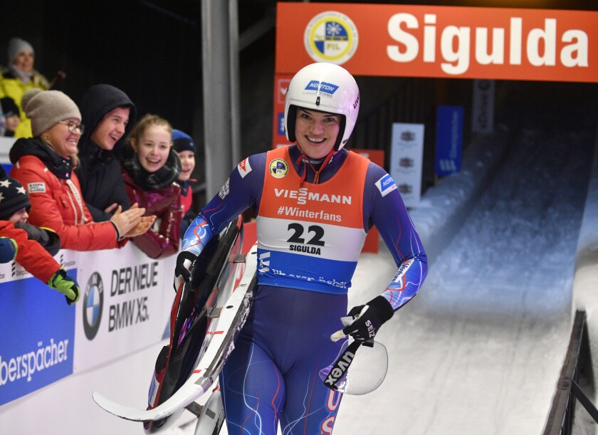 World Cup-US Hopes Luge