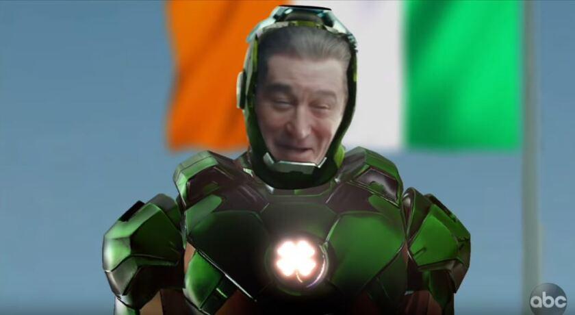 Robert De Niro as a superhero