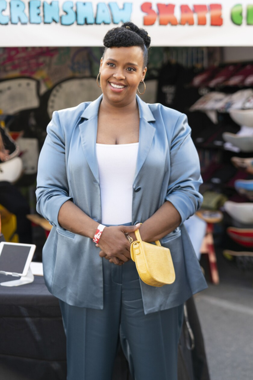 "Natasha Rothwell as Kelli in ""Insecure."" Rothwell, also a writer and supervising producer on the series, penned the episode ""Lowkey Happy."""