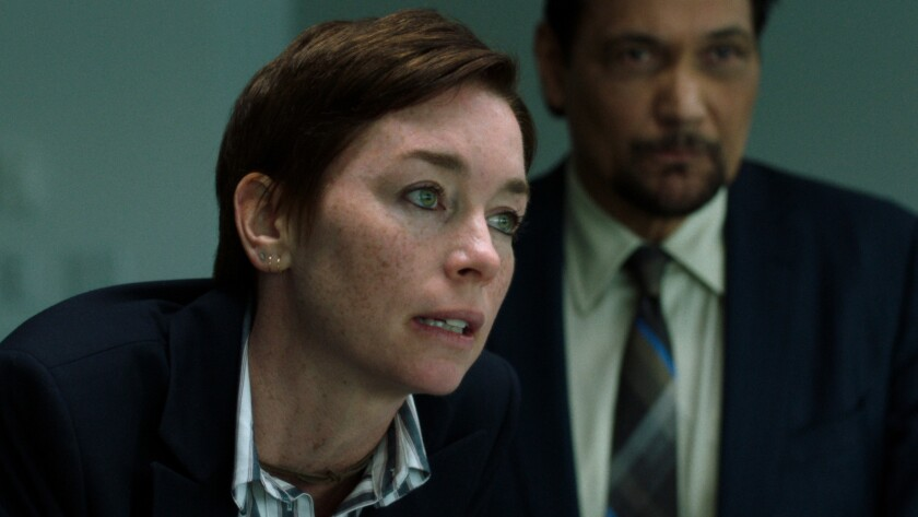 """Julianne Nicholson and Jimmy Smits in the movie """"Who We Are Now."""""""