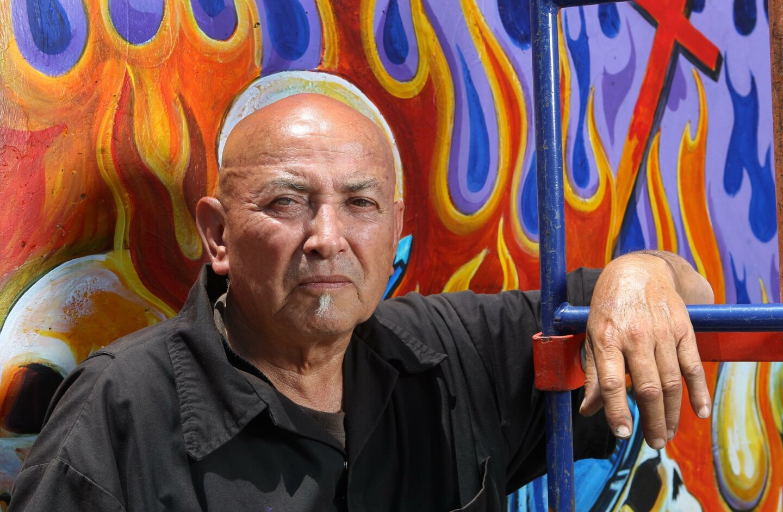 Chicano park mural restorationists