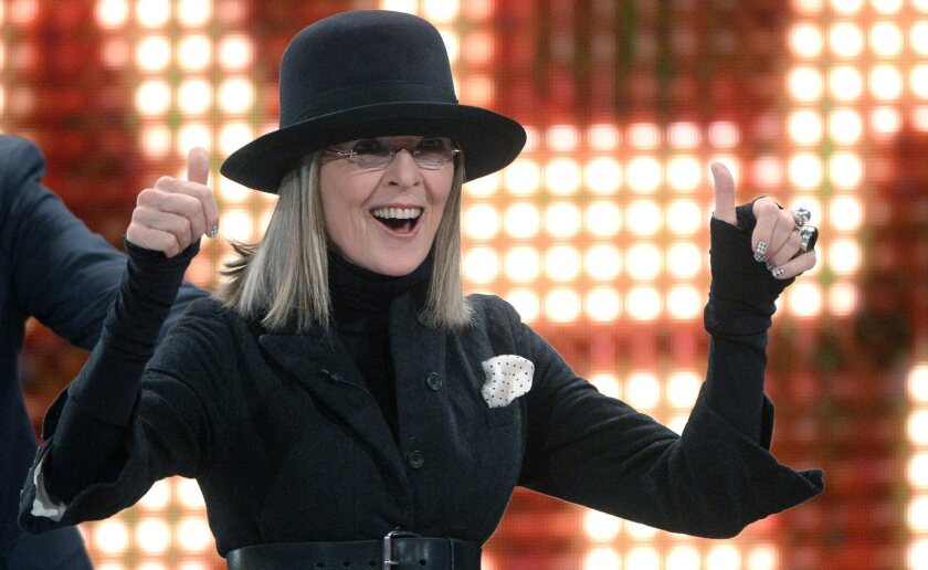 """Diane Keaton, shown here on a German TV show in 2014, will costar with Jude Law in """"The Young Pope."""""""