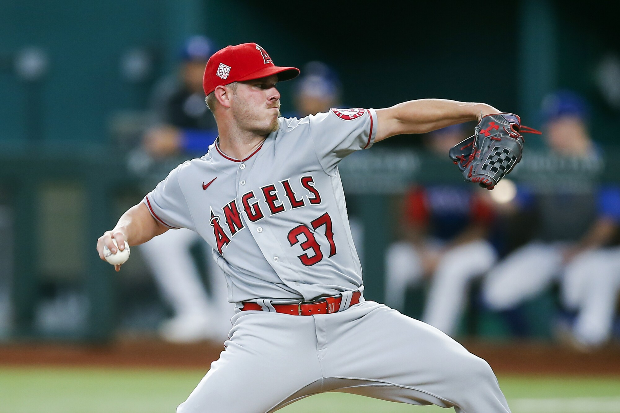 Angels right-hander Dylan Bundy throws a pitch in the first inning Thursday.