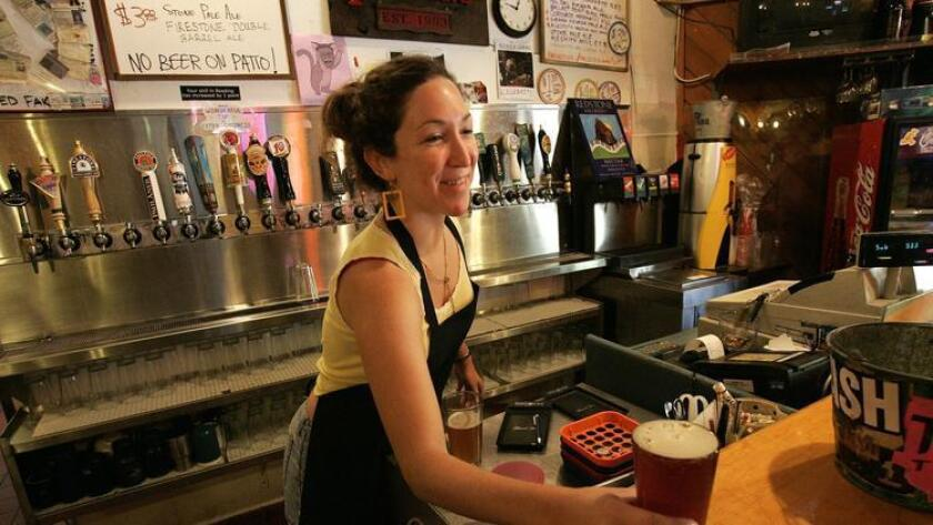 In 2006 Sharron Moon served up a brew at the Porter's Pub at UCSD. The lease for Porter's was not renewed and the pub will close on June 30. (Earnie Grafton)