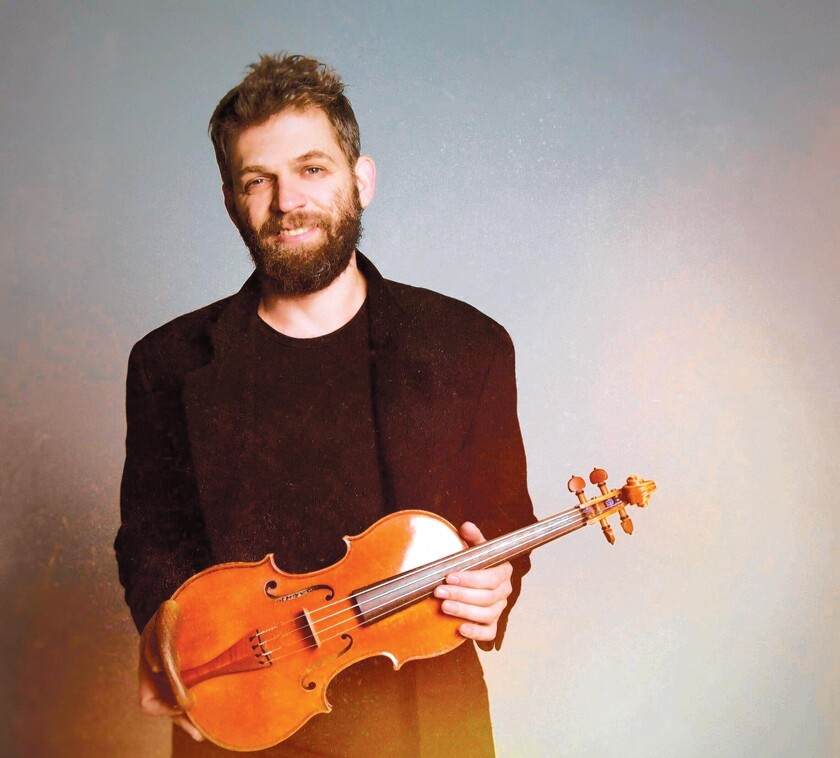 Violinist Johnny Gandelsman will play Bach's six Cello Suites at The JAI cabaret in La Jolla's Conrad Prebys Performing Arts Center, March 23, 2020.