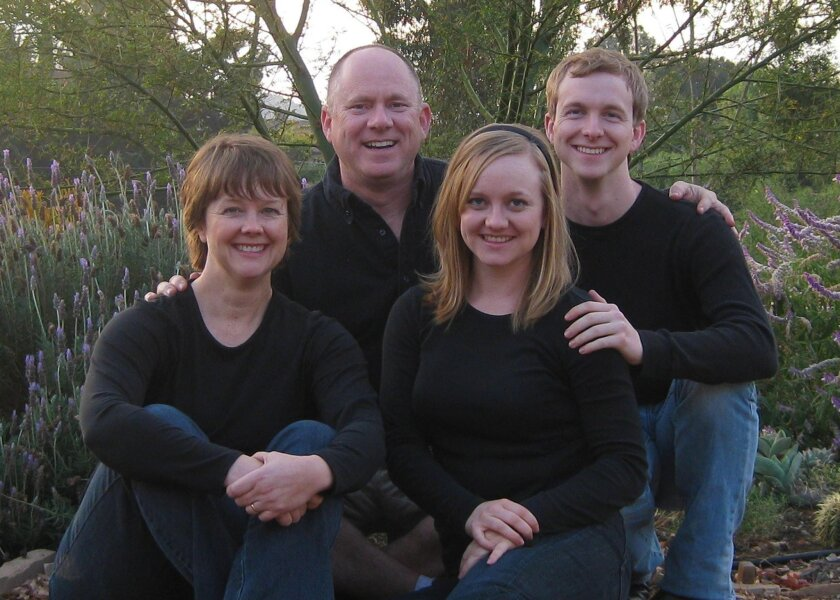 This family photo shows the Reid family. From left are Lynette, David, Katy and Garrett Reid. David Reid was killed in January when his van was hit by a car driven by former Steele Canyon High baseball standout Andrew Bellatti. Garrett Reid was injured in the crash.