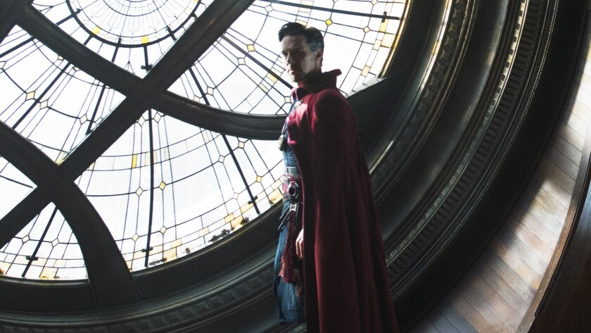 "Benedict Cumberbatch in the movie ""Doctor Strange."""