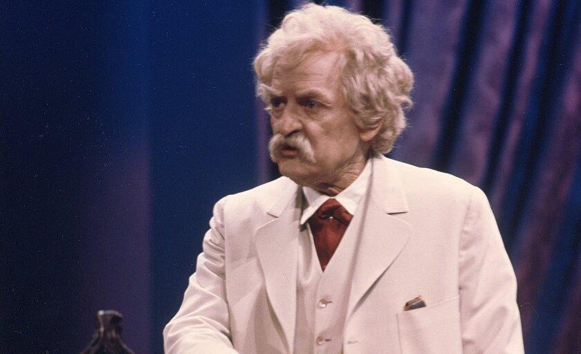 "Hal Holbrook in ""Mark Twain Tonight!"""