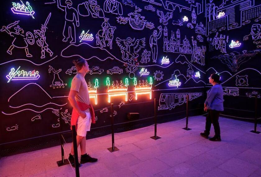 """Vista general de la exposición """"Miradas a la ciudad"""", que se exhibe en el Museo de la Ciudad de México (México) hoy, viernes 22 de junio de 2018. EFE"""