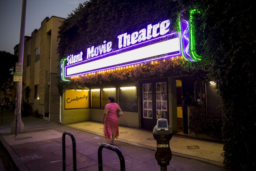 The Silent Movie Theatre, photographed in 2017 and former home of The Cinefamily, has been renovated and is set to open as the Fairfax Cinema.