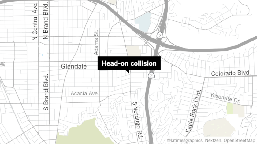 A man suffered grave injuries after being involved in a head-on vehicle collision in Glendale on Friday near Verdugo and Windsor roads.