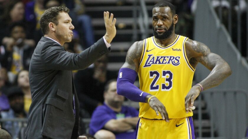 Coach Luke Walton and the Lakers have played nine games since All-Star forward LeBron James sustained a groin injury Dec. 25.
