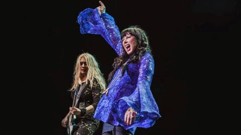 Las hermanas Wilson son las integrantes principales del grupo de rock Heart.