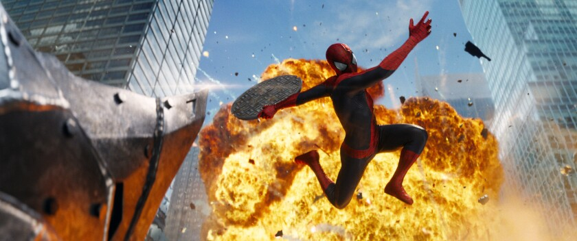 """A scene from """"The Amazing Spider-Man 2."""""""
