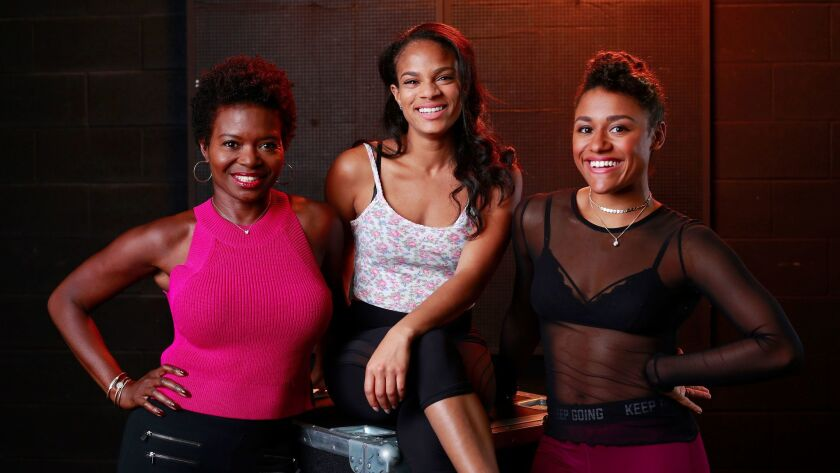 """LaChanze, Storm Lever and Ariana DeBose (from left) star in La Jolla Playhouse's world-premiere musical """"Summer: The Donna Summer Musical."""""""