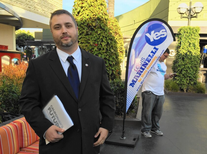 Louis J. Marinelli, a 29-year-old ESL teacher, is not only running for the California Assembly; he is advocating for the secession of the Golden State from the United States.