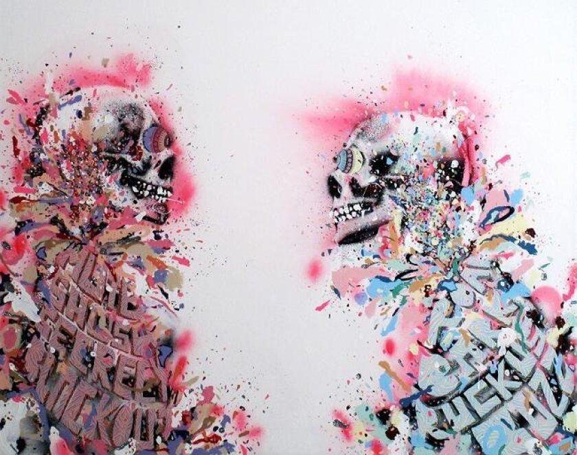 "KELSEY BROOKES YA 2009 mixed media on canvas 48"" x 48"" 121.9cm x 121.9cm Kelsey Brookes Photo credit Roy Porello Photo courtesy Quint Contemporary Art"