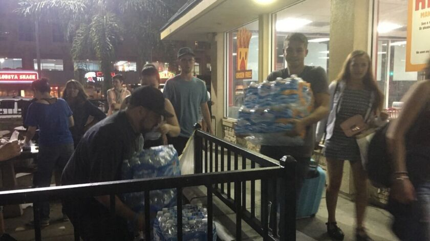 Monday Night Mission volunteers getting supplies ready at Burger King.