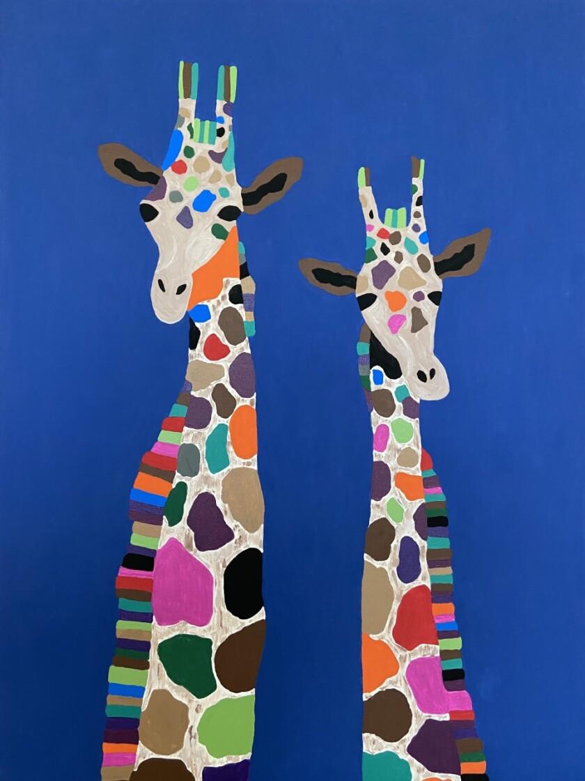 """Whimsical Giraffes"" - Ms. Cameron, Grade 4."