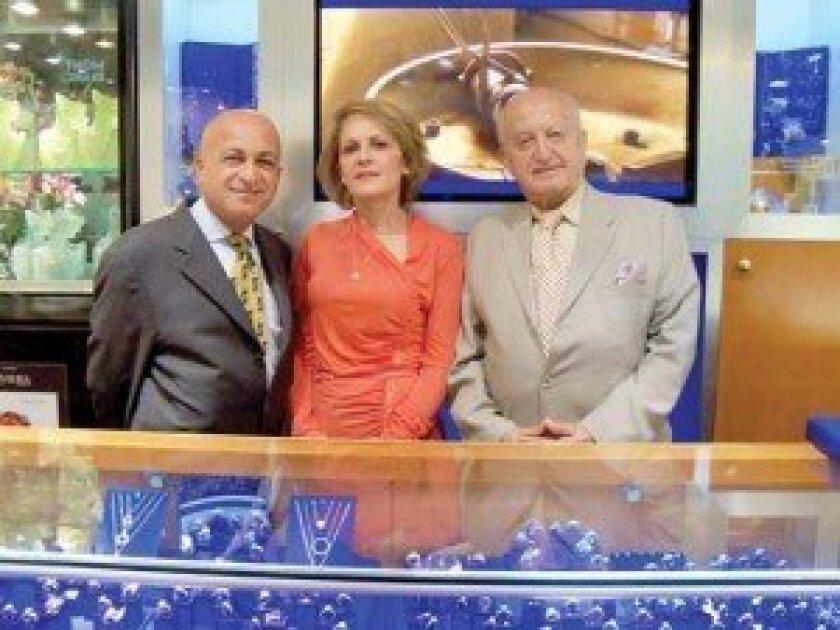 Fred Nasseri, Minoo Anvari and Dr. Said Nasseri at Unicorn Jewelry in Rancho Bernardo.