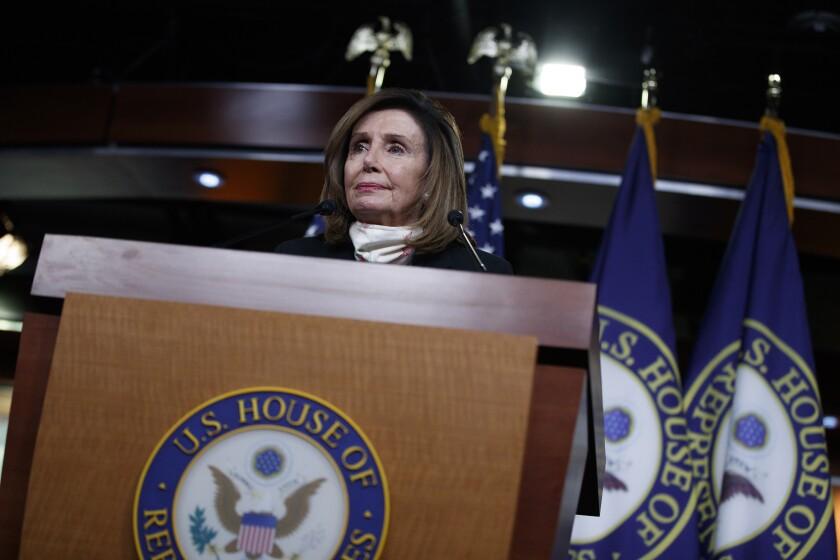Fotografía de archivo del 28 de mayo de 2020 de la presidenta de la Cámara de Representantes Nancy Pelosi