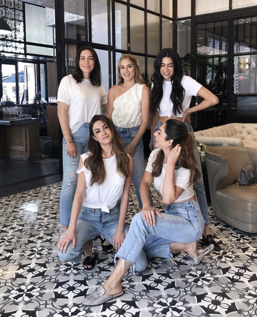 The women of AEUYS, a bilingual and bicultural content creation group that Andrea Lopez-Velarde founded with her best friends.