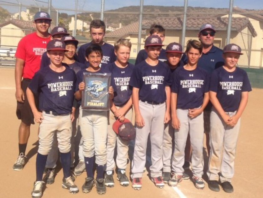 The Del Mar Powerhouse 12U team earned the No. 3 seed in a 10-team pool at the Triple Crown San Diego Open.