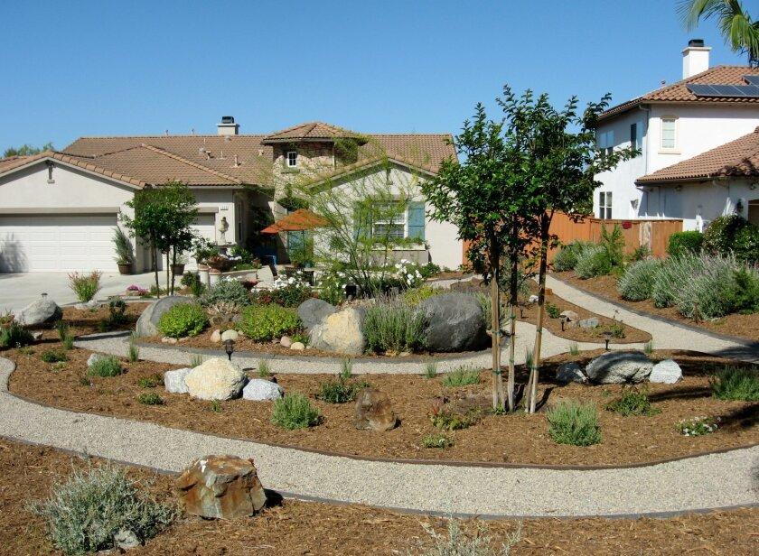 The winning water-wise garden in the Vista Irrigation District's California-Friendly Landscape Contest.