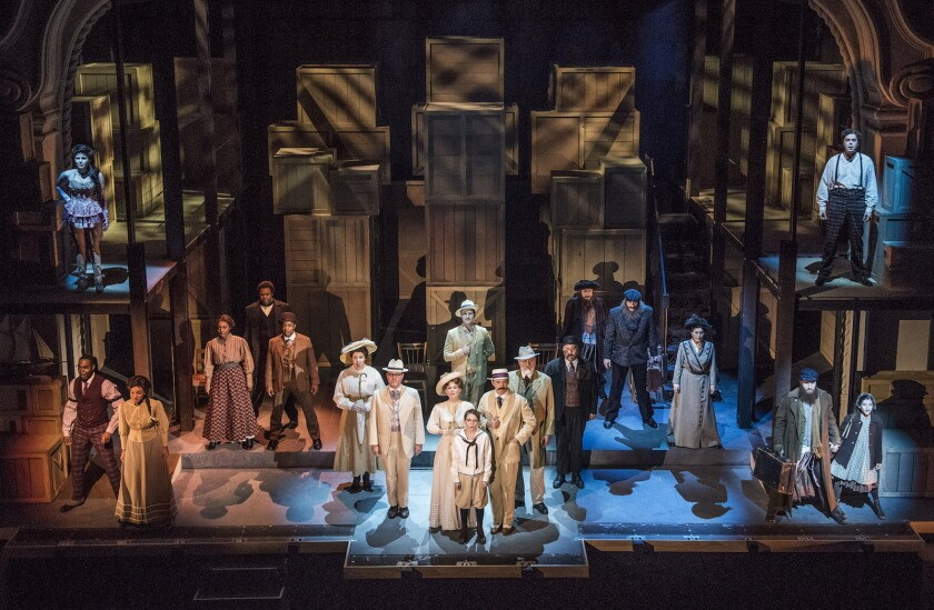 "Large cast, ambitious set, live orchestra: Pasadena Playhouse's ""Ragtime."""