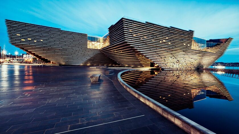 The V&A Dundee, designed by Japanese architect Kengo Kuma, will open September in Scotland.