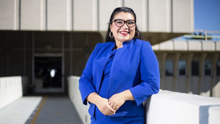 National City Mayor-elect Alejandra Sotelo-Solis poses for portraits at City Hall in National City on Thursday, December 13th, 2018.