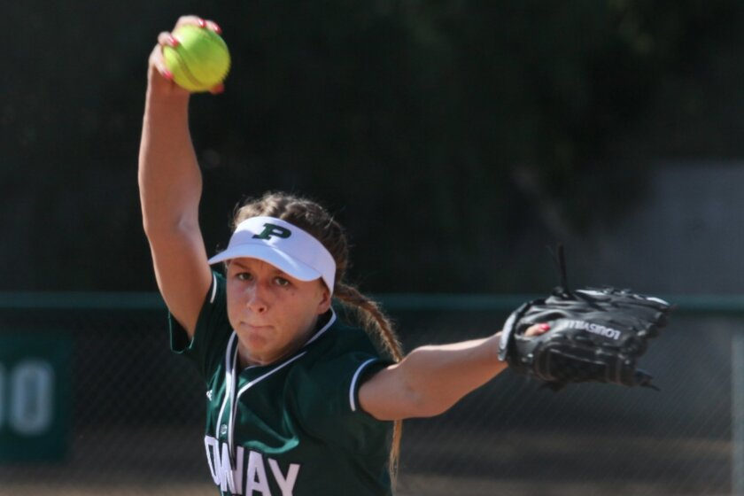 Poway senior Kourtney Shaw set school records for wins (22) and shutouts (10) this season while leading the Titans to the Open Division title.