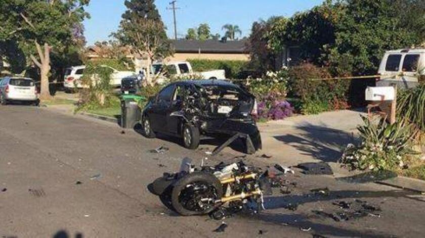 Man killed in motorcycle crash in Costa Mesa is identified