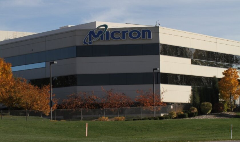 Micron Technology Inc.'s headquarters in Boise, Idaho. A state-owned Chinese company reportedly is eyeing a takeover of the chip maker.