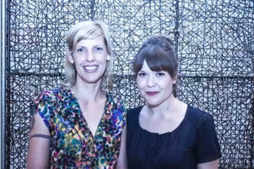 Artist Margaret Noble and curator Jill Dawsey