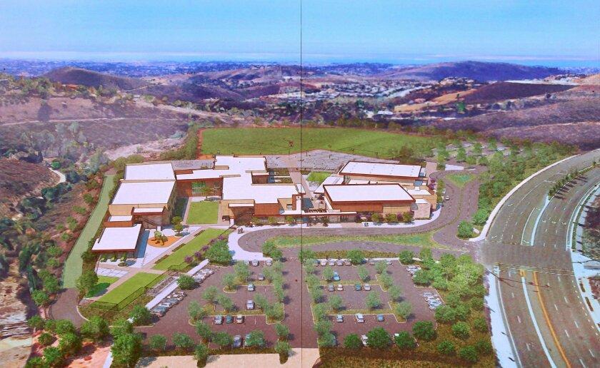 Artist's rendering of the K-8 Double Peak School in San Marcos.