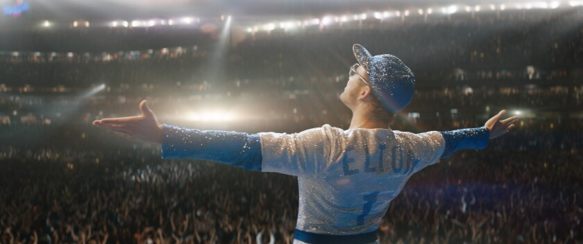 "Taron Egerton plays Elton John in ""Rocketman"" from Paramount Pictures."