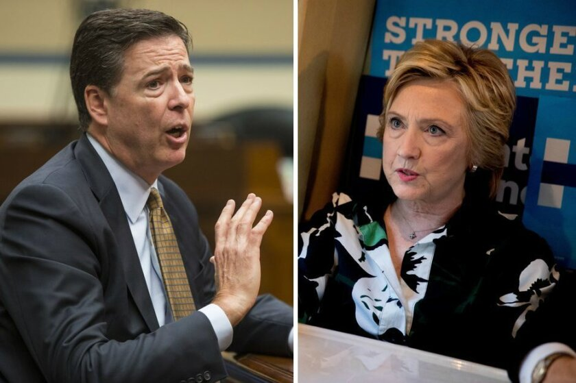 FBI Director James Comey and Democratic presidential nominee Hillary Clinton remain intertwined in a now-closed investigation into her handling of classified emails while she was Secretary of State.