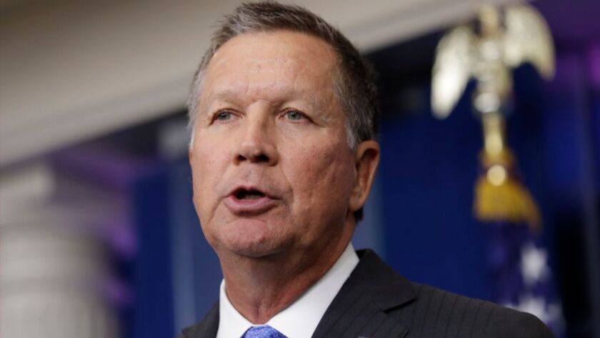 In this Friday, Sept. 16, 2016, file photo, Ohio Gov. John Kasich speaks during the daily news briefing at the White House in Washington. Kasich on Tuesday, Dec. 6, 2016 advised state electors not to vote for him in an anti-Donald Trump protest.