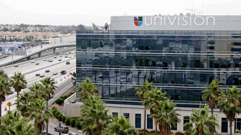 Univision's West Coast offices, off the San Diego Freeway in Los Angeles.