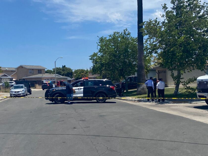 Police are investigating a double homicide in Otay Mesa.