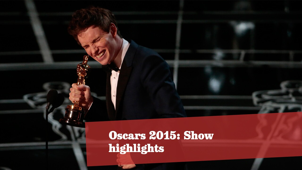 Scenes from the 87th Academy Awards ceremony. More Oscars: Full coverage | Complete list | Red carpet | Quotes | Backstage | Best & worst | Winners' room | Top nominees | Video Q&As