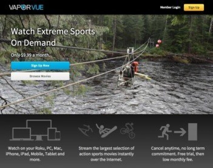 Launched by Solana Beach-based Opper Sports Productions, Vaporvue is a new subscription-based streaming video service. Courtesy photo