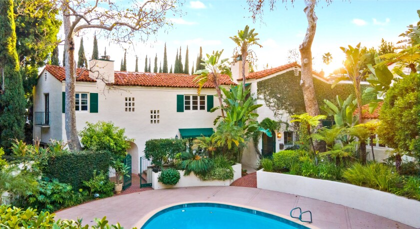 Built in 1926, the Spanish-style villa is recognized as a Los Angeles Historic Cultural Monument.