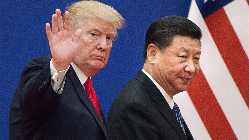 President Trump and Chinese President Xi Jinping in Beijing in 2017.