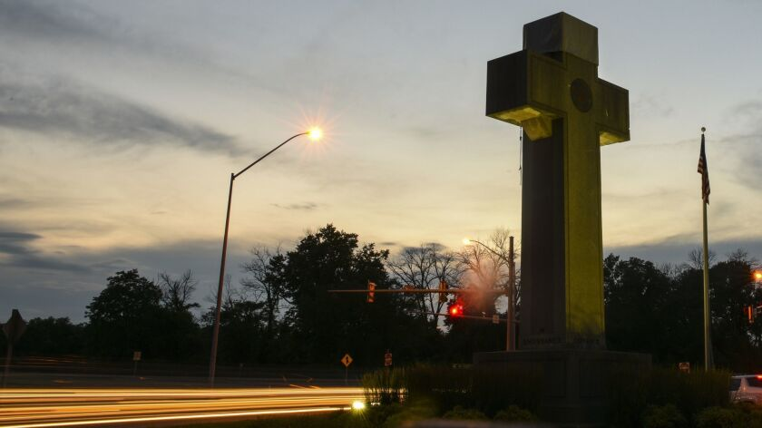 The Peace Cross, which stands in Bladensburg, Maryland, on June 19.