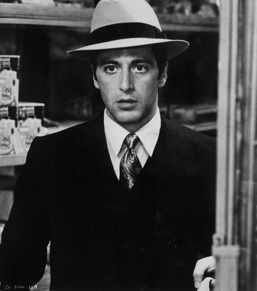 "Al Pacino stars in ""The Godfather"" in 1972."