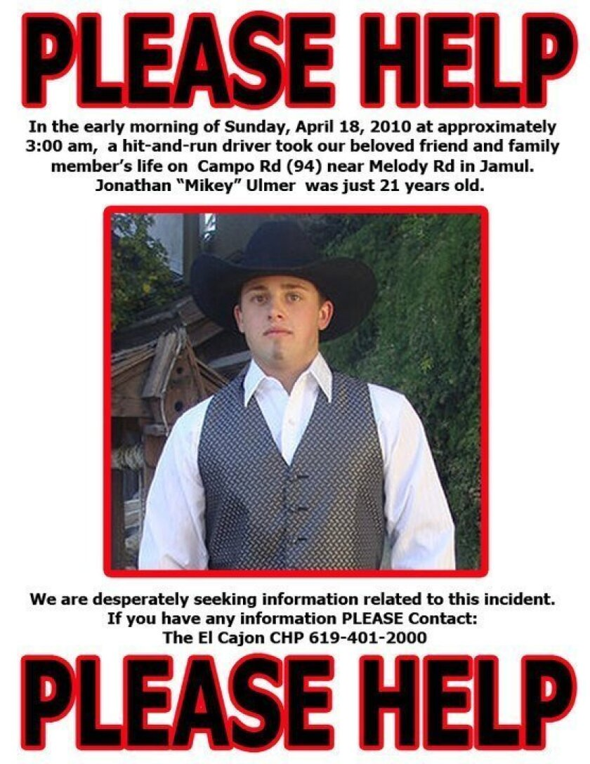 The flier posted by the Ulmer family.